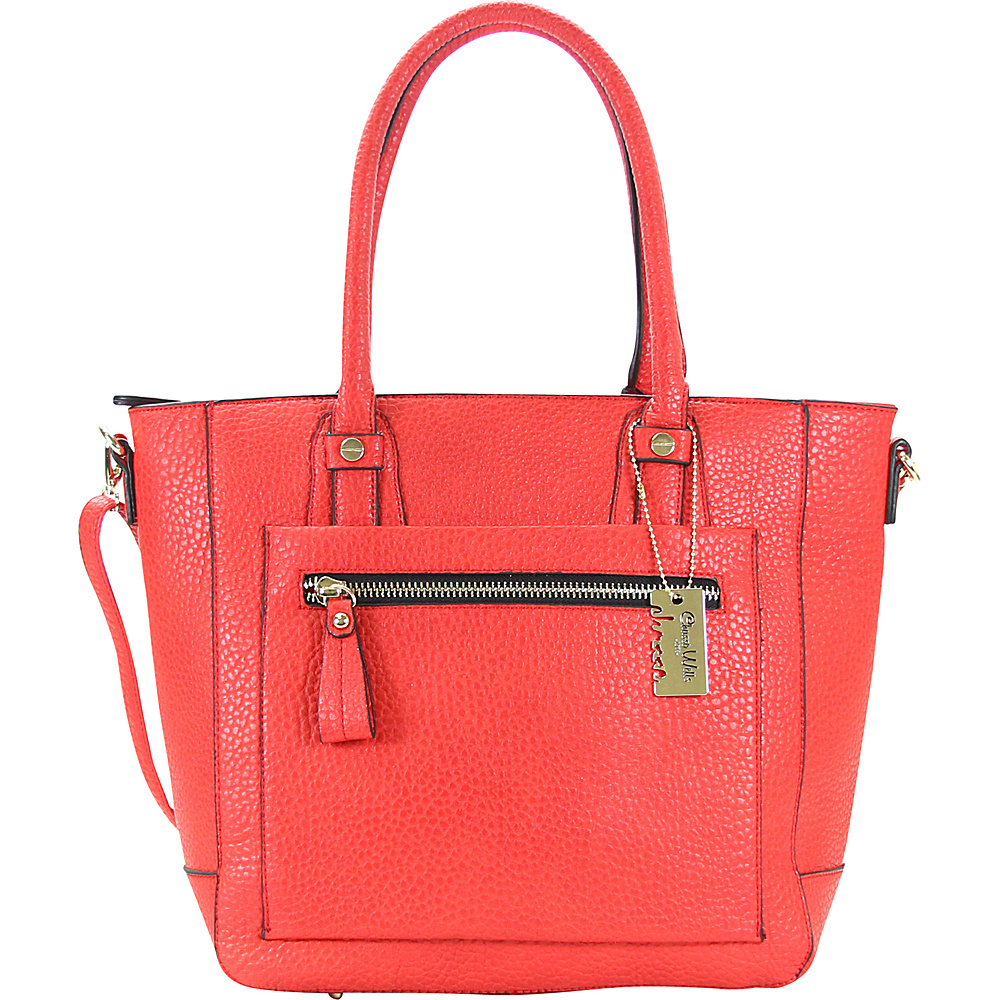 Chasse Wells Ecartement Tote Red Chasse Wells Manmade Handbags