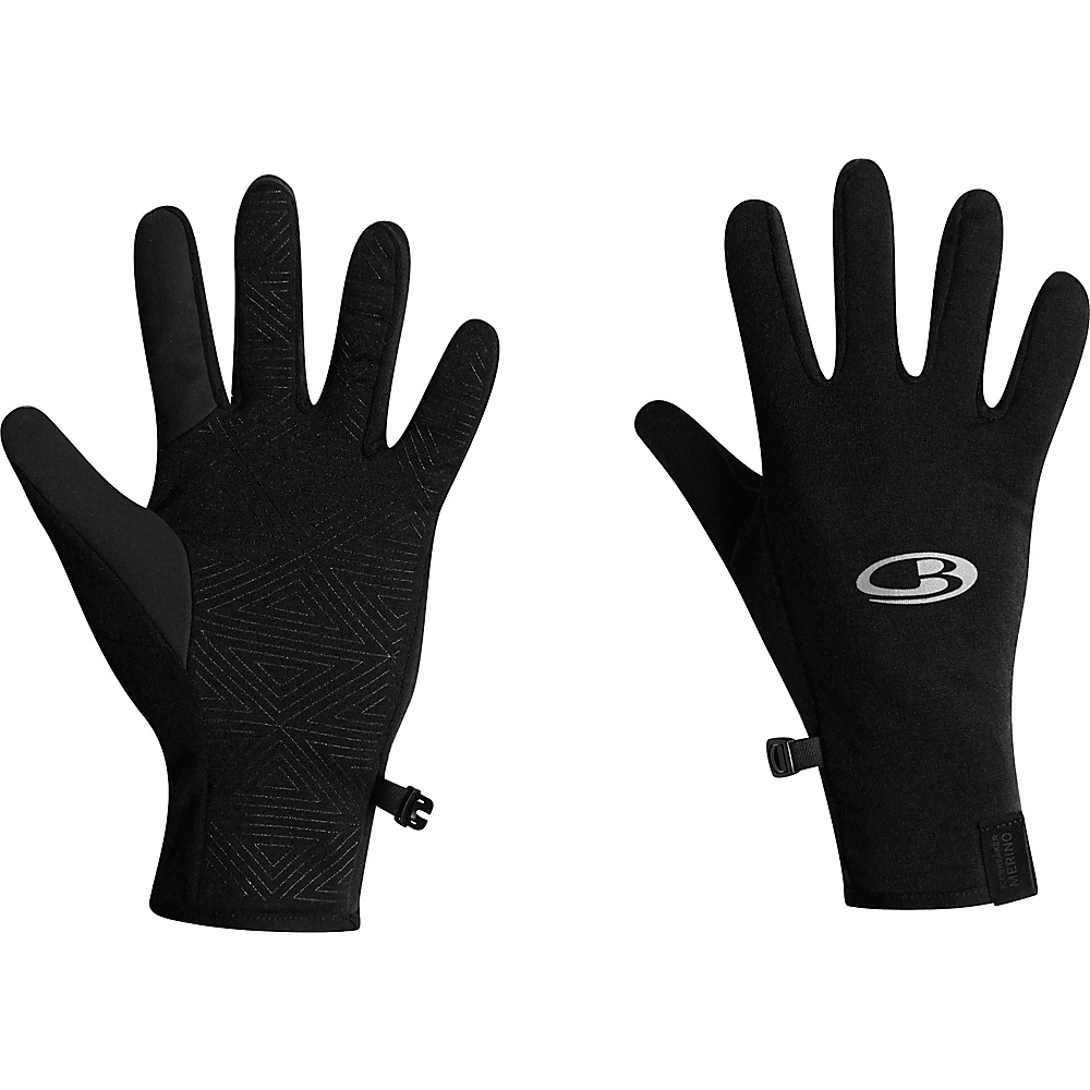 Icebreaker Quantum Gloves XL - Black - Icebreaker Hats/Gloves/Scarves - Fashion Accessories, Hats/Gloves/Scarves