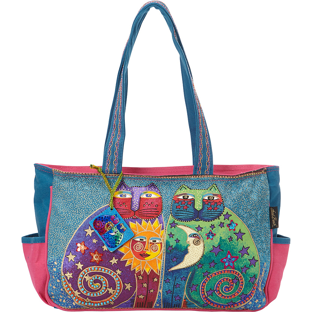 Laurel Burch Celestial Felines Medium Tote Celestial Felines Laurel Burch Fabric Handbags