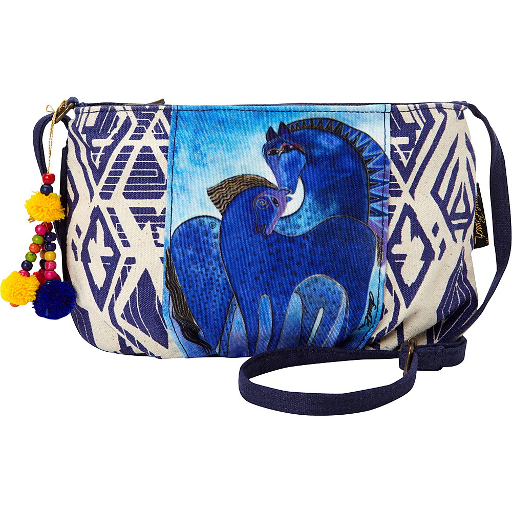 Laurel Burch Indigo Mares Crossbody Blue Laurel Burch Fabric Handbags