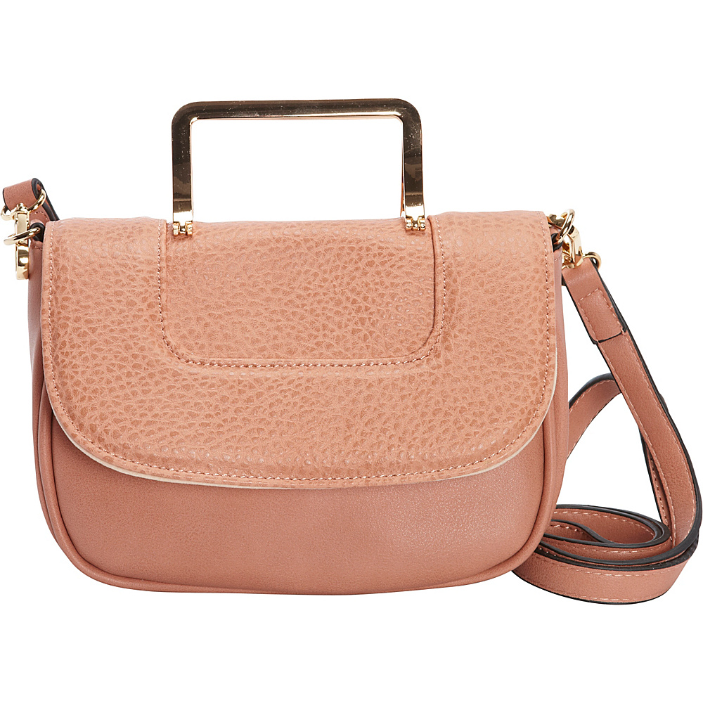 Diophy Convertible Crossbody Rusty Pink Diophy Manmade Handbags
