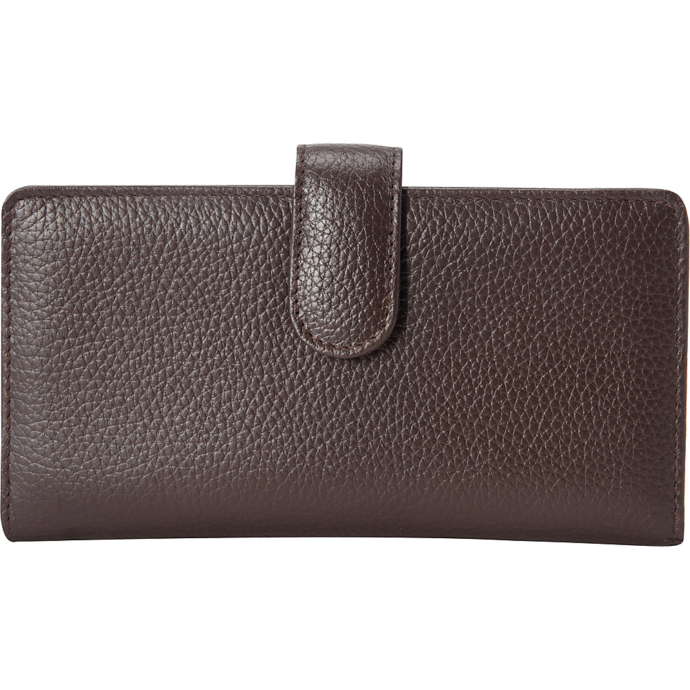 Buxton Hudson Pik-Me-Up Checkbook Keeper Chocolate Brown - Buxton Womens Wallets - Women's SLG, Women's Wallets