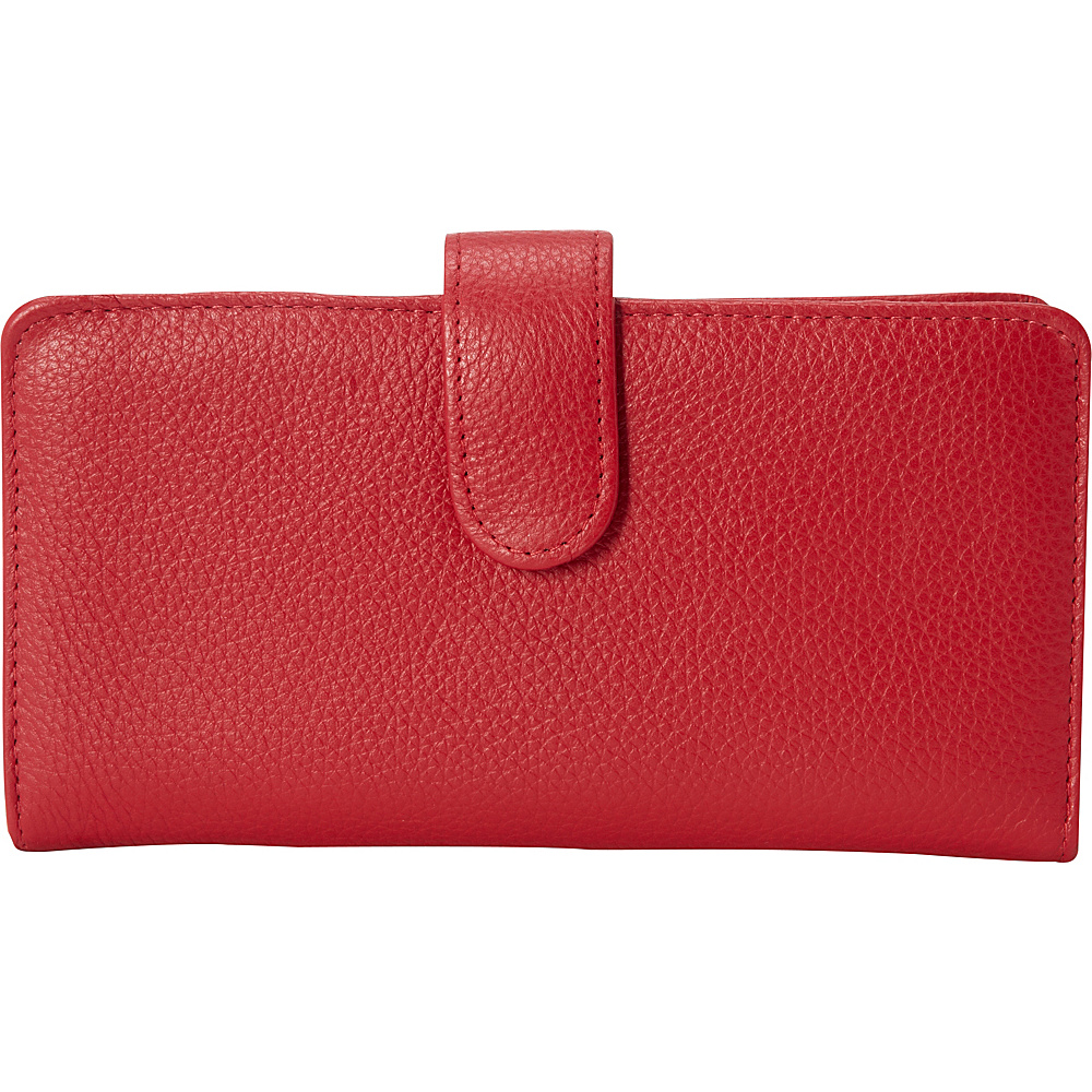 Buxton Hudson Pik-Me-Up Checkbook Keeper Dark Red - Buxton Womens Wallets - Women's SLG, Women's Wallets