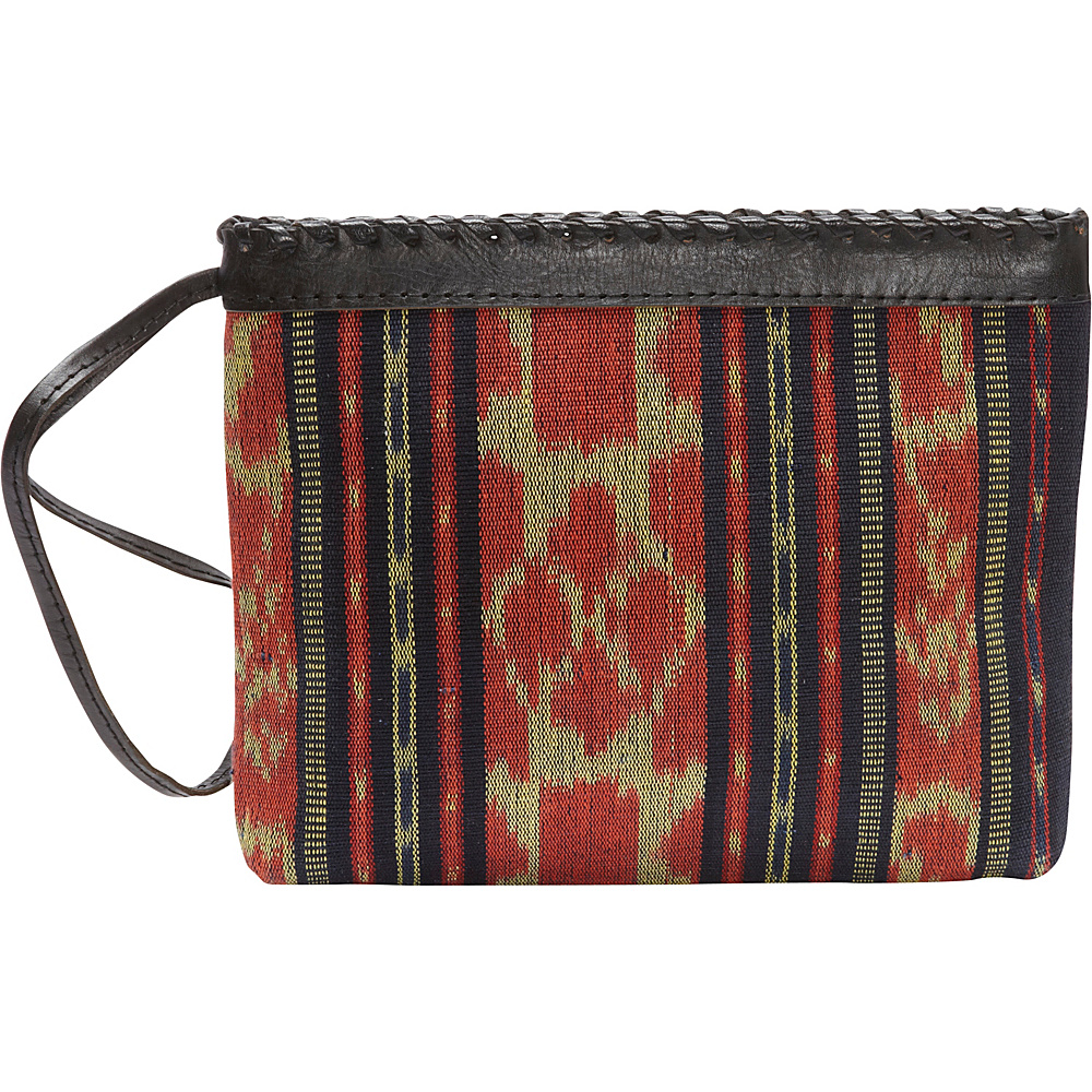 TLC you Samaya Clutch Red Black Mustard TLC you Fabric Handbags