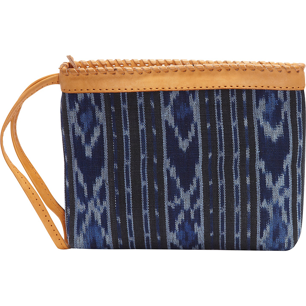 TLC you Samaya Clutch Blue Black TLC you Fabric Handbags