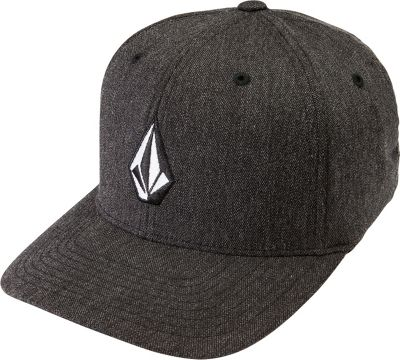 Volcom Full Stone Heather Xfit Hat S/M - Charcoal Heather - Volcom Hats/Gloves/Scarves