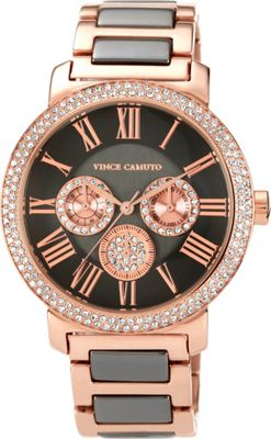 Vince Camuto Watches Ladies' Two-Tone Swarovski Crystal Chronograph Watch Rose Gold - Vince Camuto Watches Watches