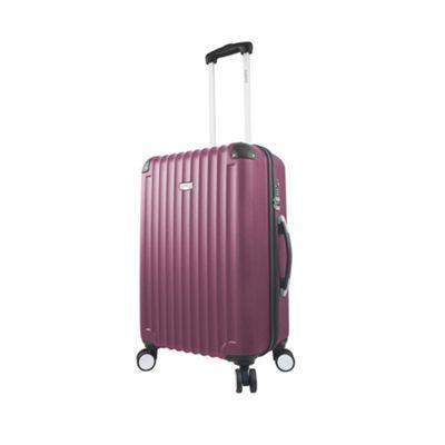 Mia Viaggi ITALY Verona 24 inch Hardside Spinner Burgundy - Mia Viaggi ITALY Hardside Checked