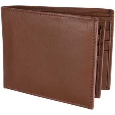 Access Denied Men's Genuine Leather RFID Blocking Secure Wallet 10 Card Slots ID Theft Protection Tan Brown - Access Denied Men's Wallets