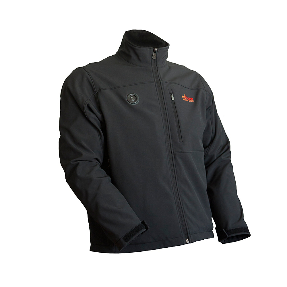 My Core Control Mens Heated Softshell Jacket L Black My Core Control Men s Apparel