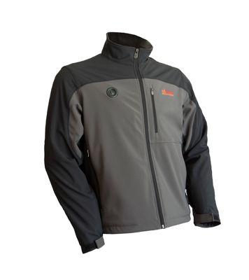 My Core Control Mens Heated Softshell Jacket L - Black/Grey - My Core Control Men's Apparel