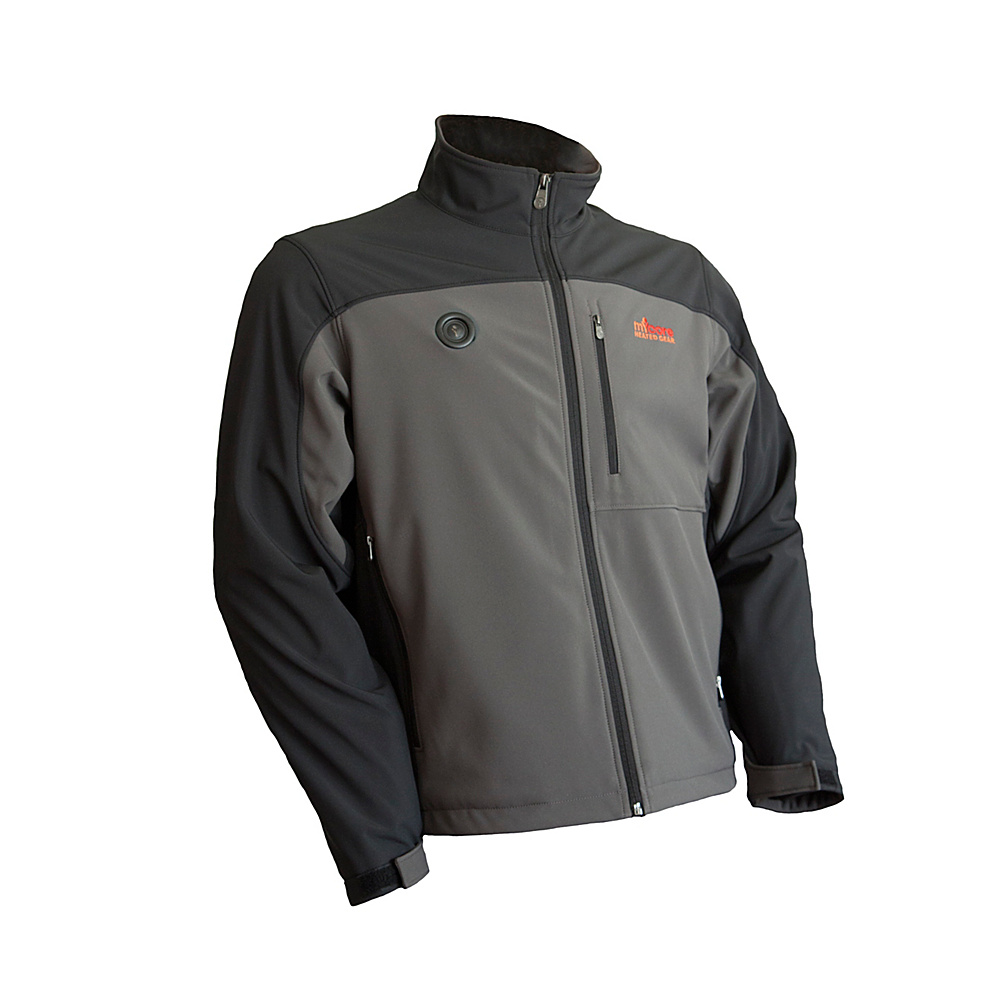 My Core Control Mens Heated Softshell Jacket L Black Grey My Core Control Men s Apparel