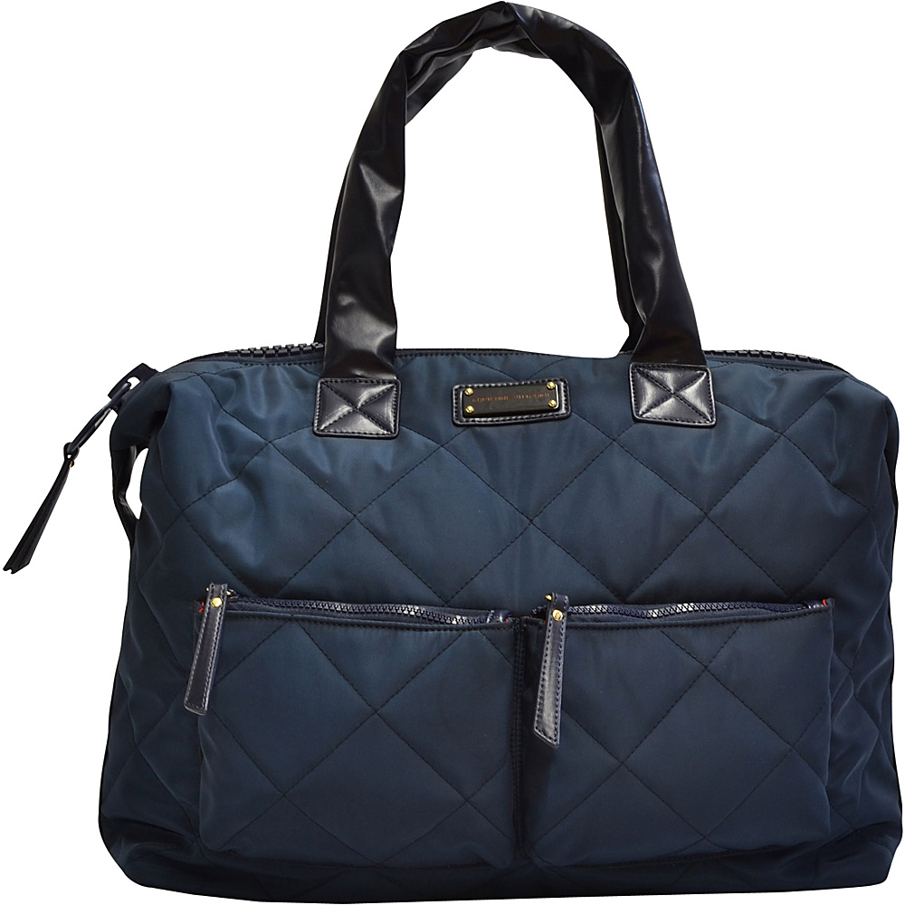 Adrienne Vittadini Multi Compartment Duffle Navy - Adrienne Vittadini All Purpose Duffels