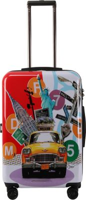 Triforce Francisco Ceron Pop Art New York 26 inch Hardside Spinner Luggage New York - Triforce Softside Checked