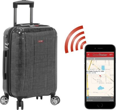 Planet Traveler USA USA Smart Tech Case 19 inch Carry On Silver - Planet Traveler USA Hardside Carry-On