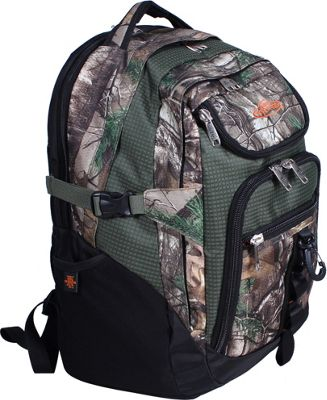 RealTree 3 Section Laptop Back Pack Xtra/Olive - RealTree Business & Laptop Backpacks