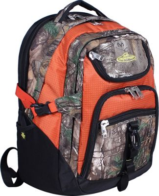 RealTree 3 Section Laptop Back Pack Xtra/Rust - RealTree Business & Laptop Backpacks