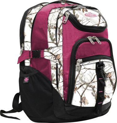 RealTree 3 Section Laptop Back Pack Xtra Snow / Raspberry - RealTree Business & Laptop Backpacks