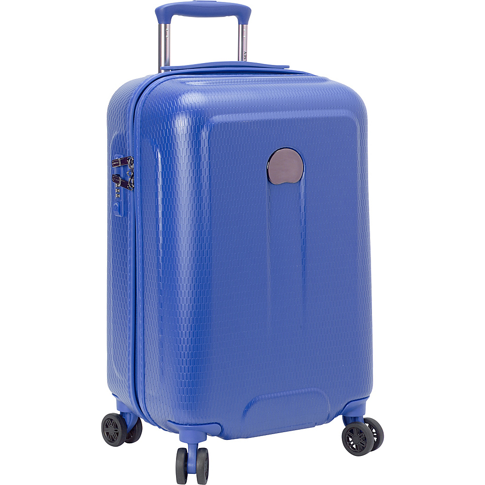 Delsey Embleme Carry on Spinner Trolley Royal Blue Delsey Hardside Carry On