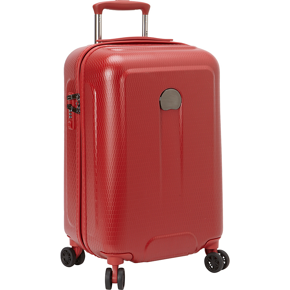 Delsey Embleme Carry on Spinner Trolley Red Delsey Hardside Carry On