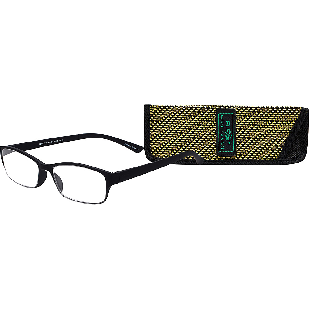 Select A Vision Flex 2 Reading Glasses 2.50 Black Select A Vision Sunglasses