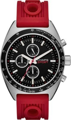 Chaps Rockton Silicone Chronograph Watch Red - Chaps Watches