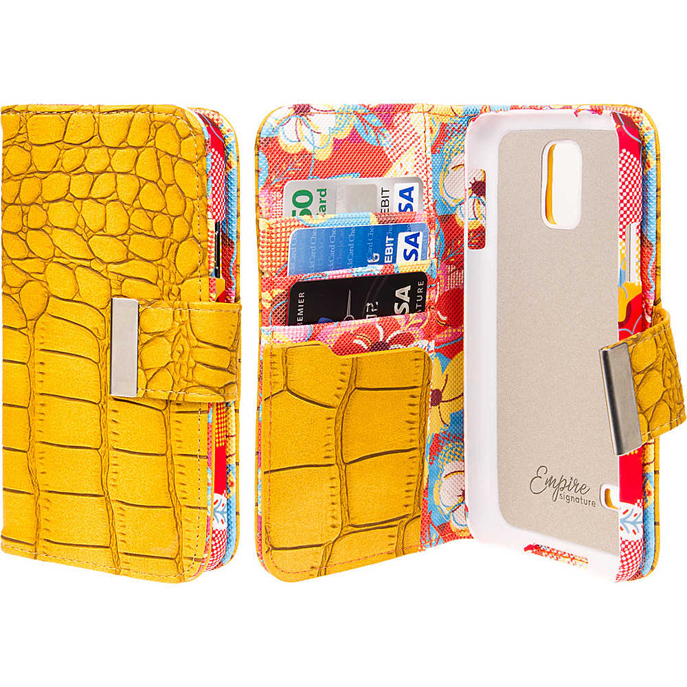 EMPIRE KLIX Klutch Designer Wallet Cases for Samsung Galaxy S5 Vintage Flower Pop! EMPIRE Electronic Cases
