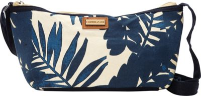 Caribbean Joe Accessories Palm Heaves Crossbody Navy - Caribbean Joe Accessories Leather Handbags