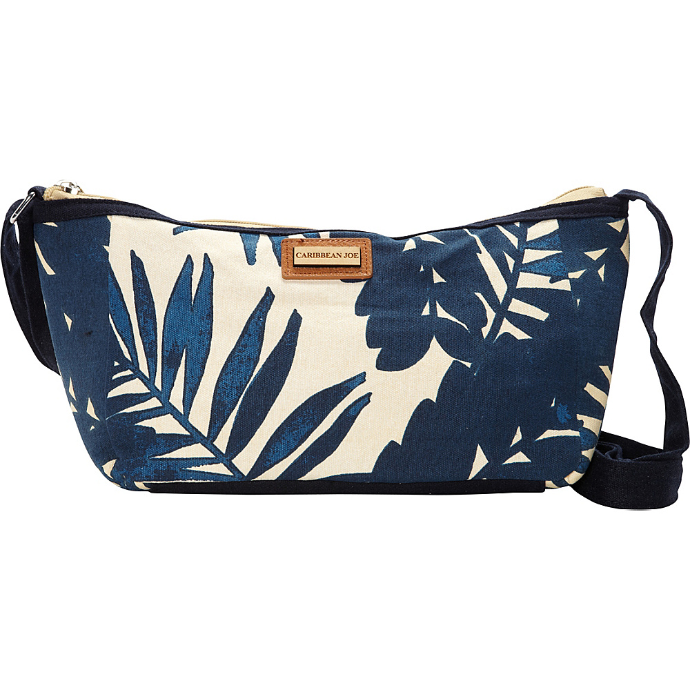 Caribbean Joe Accessories Palm Heaves Crossbody Navy - Caribbean Joe Accessories Leather Handbags