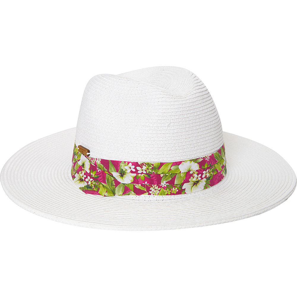 Caribbean Joe Accessories Figi Breeze Hat White - Caribbean Joe Accessories Hats/Gloves/Scarves