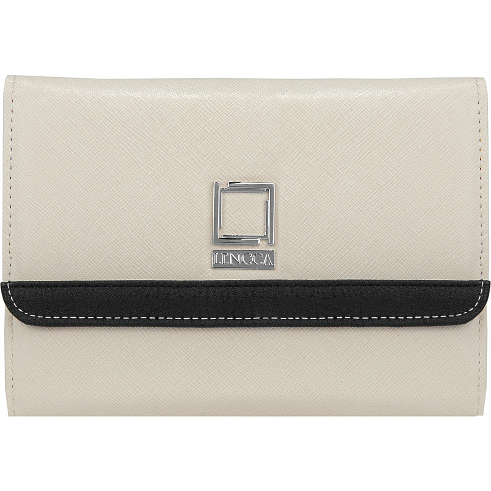 Lencca Nikina 3 in 1 Crossbody Clutch Shoulder Bag Ivory Lencca Fabric Handbags