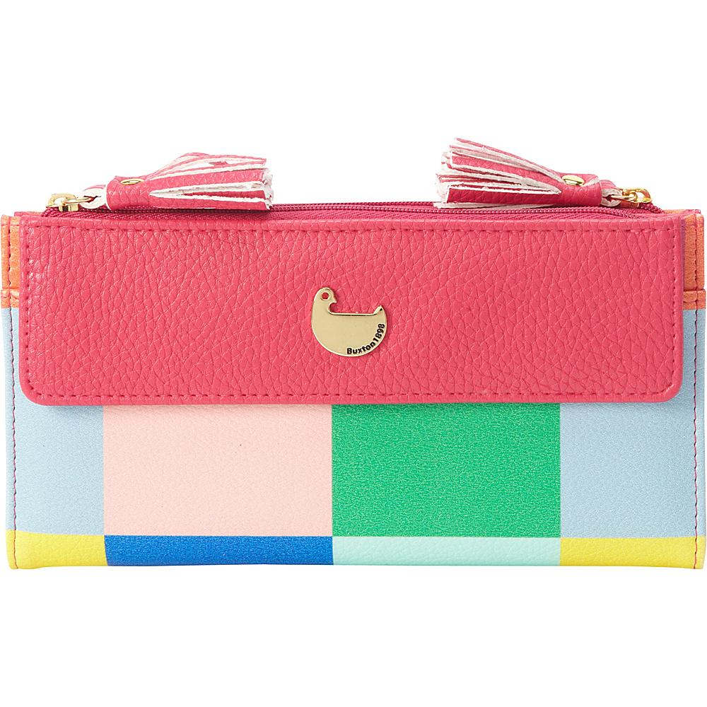 Buxton Color Block Squares Cosmopolitan Wallet Fuchsia Pink - Buxton Womens Wallets - Women's SLG, Women's Wallets