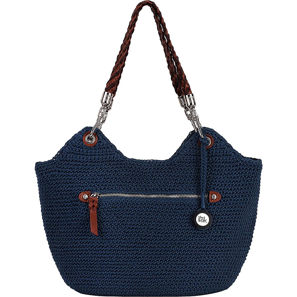 73 95 More Details The Sak Indio Satchel Crochet Vintage Blue Fabric Handbags