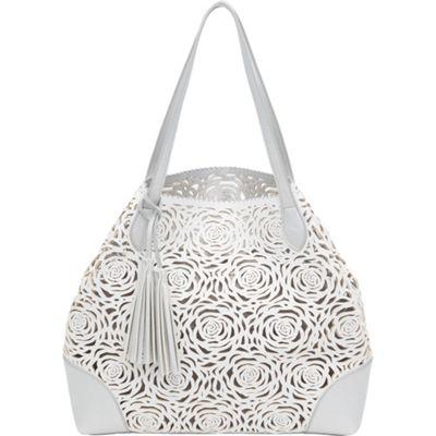 BUCO Reversible Flower Tote White/Silver - BUCO Manmade Handbags