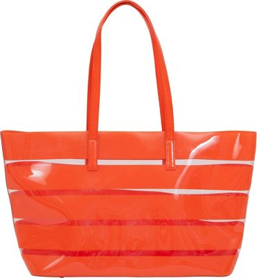 BUCO Striped Beach Tote MANDARIN - BUCO Manmade Handbags