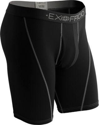 """ExOfficio Give-N-Go Sport Mesh 9"""""""" Boxer Brief M - Solid Black - ExOfficio Men's Apparel"""" 10542125"""