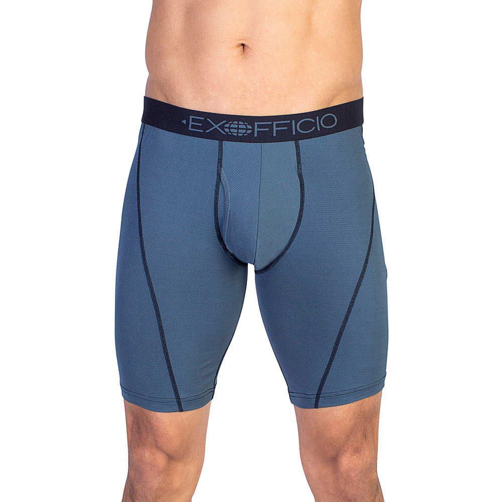 ExOfficio Give-N-Go Sport Mesh 9 Boxer Brief 2XL - Phantom - ExOfficio Mens Apparel - Apparel & Footwear, Men's Apparel