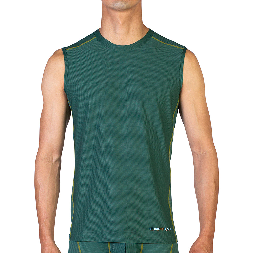 ExOfficio Give-N-Go Sport Mesh Sleeveless Crew L - Petrol - ExOfficio Mens Apparel - Apparel & Footwear, Men's Apparel