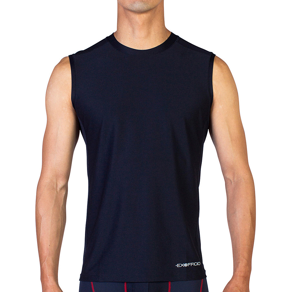 ExOfficio Give-N-Go Sport Mesh Sleeveless Crew XL - Black - ExOfficio Mens Apparel - Apparel & Footwear, Men's Apparel