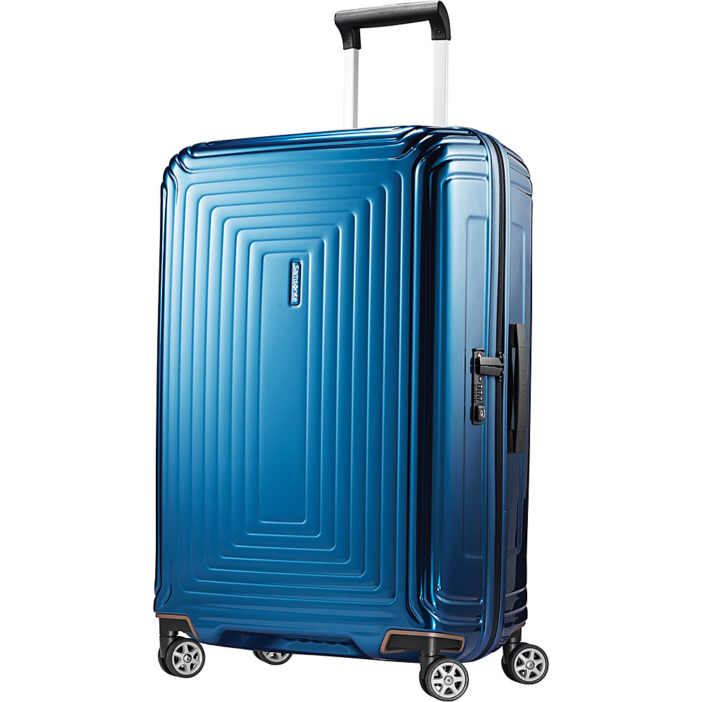 Samsonite Neopulse Hardside Spinner 28 Metallic Blue Samsonite Hardside Checked