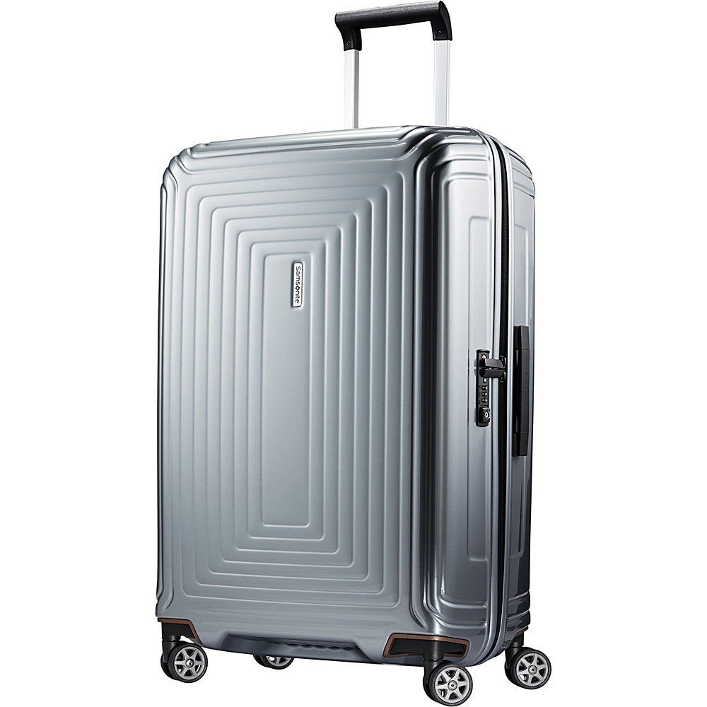 Samsonite Neopulse Hardside Spinner 28 Metallic Silver Samsonite Hardside Checked