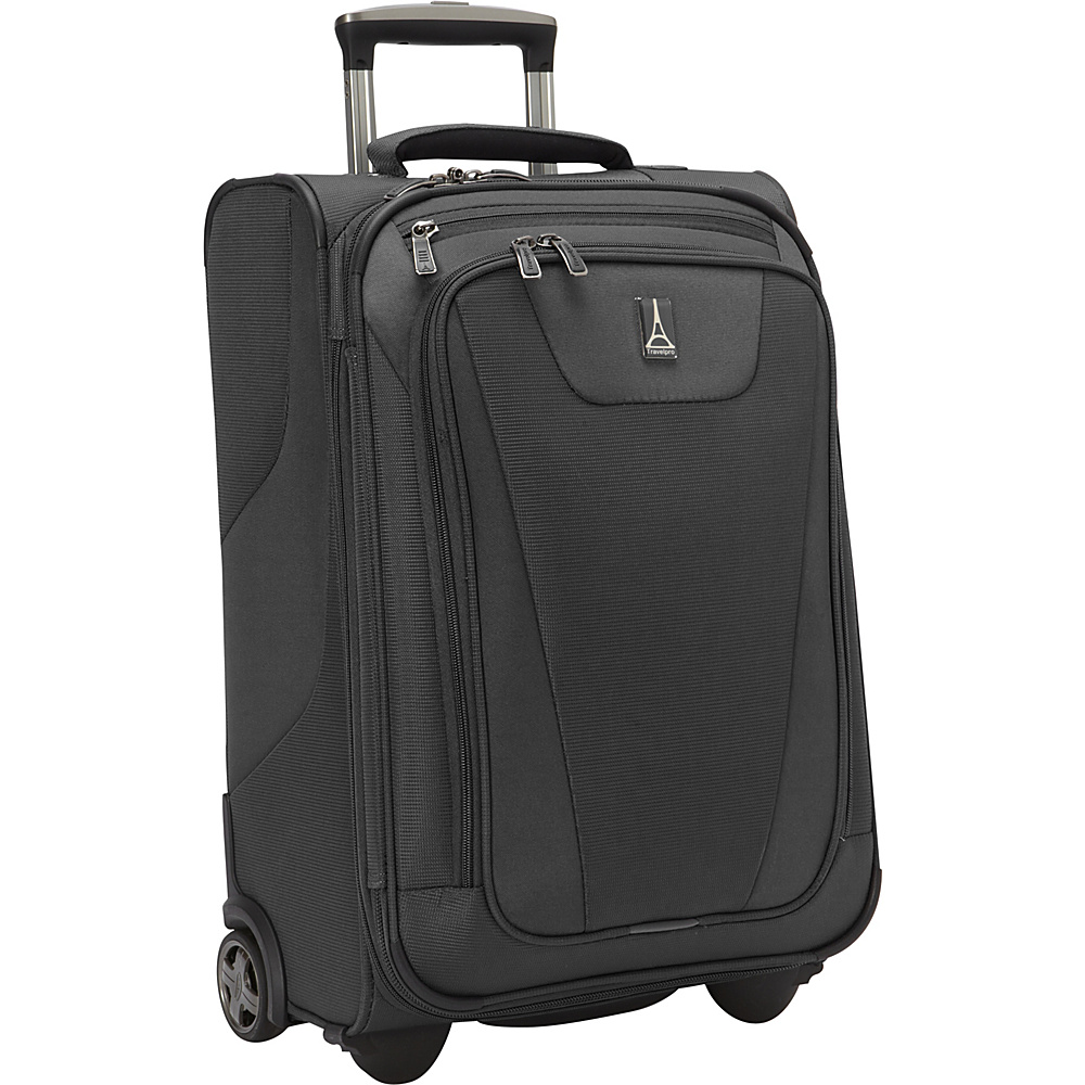 "Travelpro Maxlite 4 22"" Expandable Rollaboard Black - Travelpro Softside Carry-On"