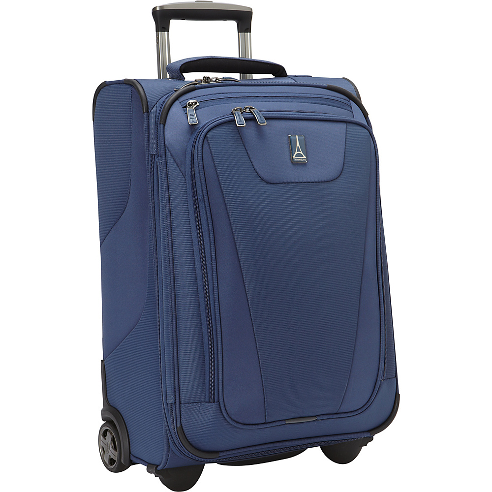 "Travelpro Maxlite 4 22"" Expandable Rollaboard Blue - Travelpro Softside Carry-On"