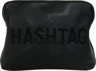 JNB HASHTAG Clutch Black - JNB Manmade Handbags