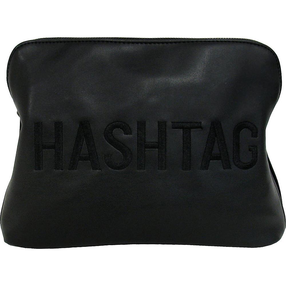 JNB HASHTAG Clutch Black JNB Manmade Handbags