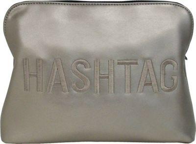 JNB HASHTAG Clutch Pewter - JNB Manmade Handbags