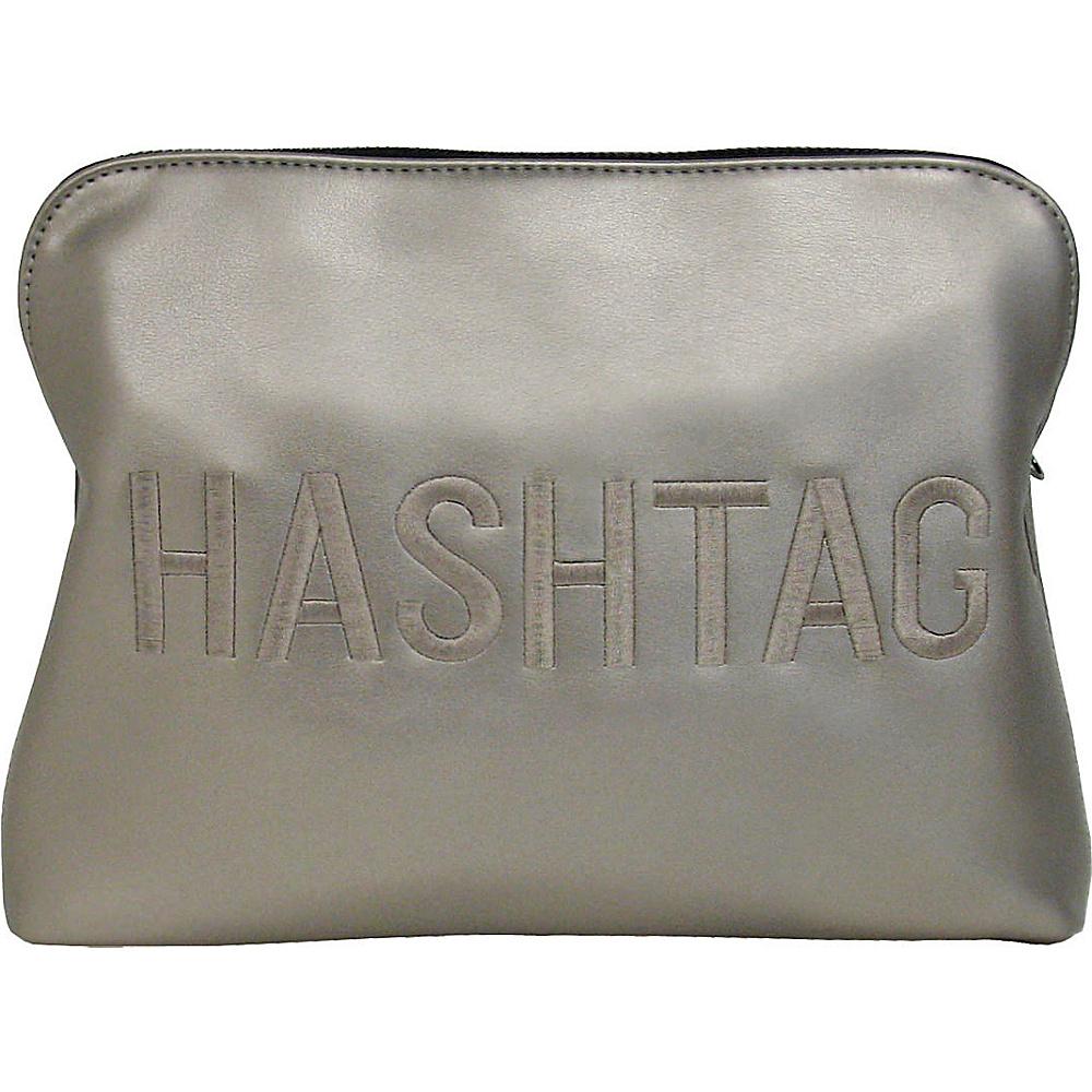 JNB HASHTAG Clutch Pewter JNB Manmade Handbags