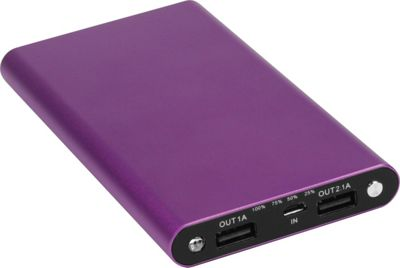 ChargeIt 10,000mAh Slimline Power Bank Purple - ChargeIt Portable Batteries & Chargers
