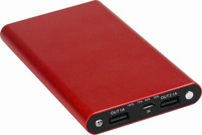 ChargeIt 10,000mAh Slimline Power Bank Red - ChargeIt Portable Batteries & Chargers