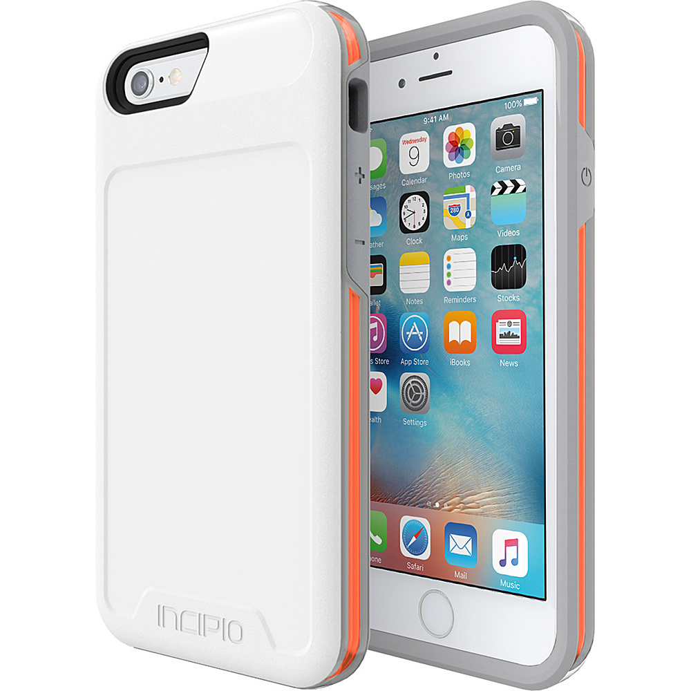 Incipio Performance Series Level 4 for iPhone 6/6s White/Orange - Incipio Electronic Cases - Technology, Electronic Cases